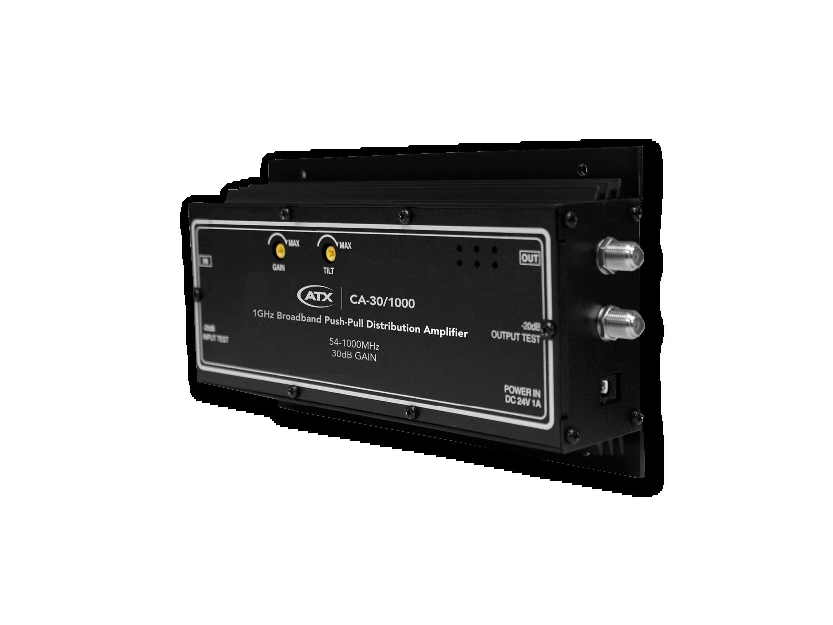 CA-30/1000: 1GHz Broadband Push-Pull Distribution Amplifier