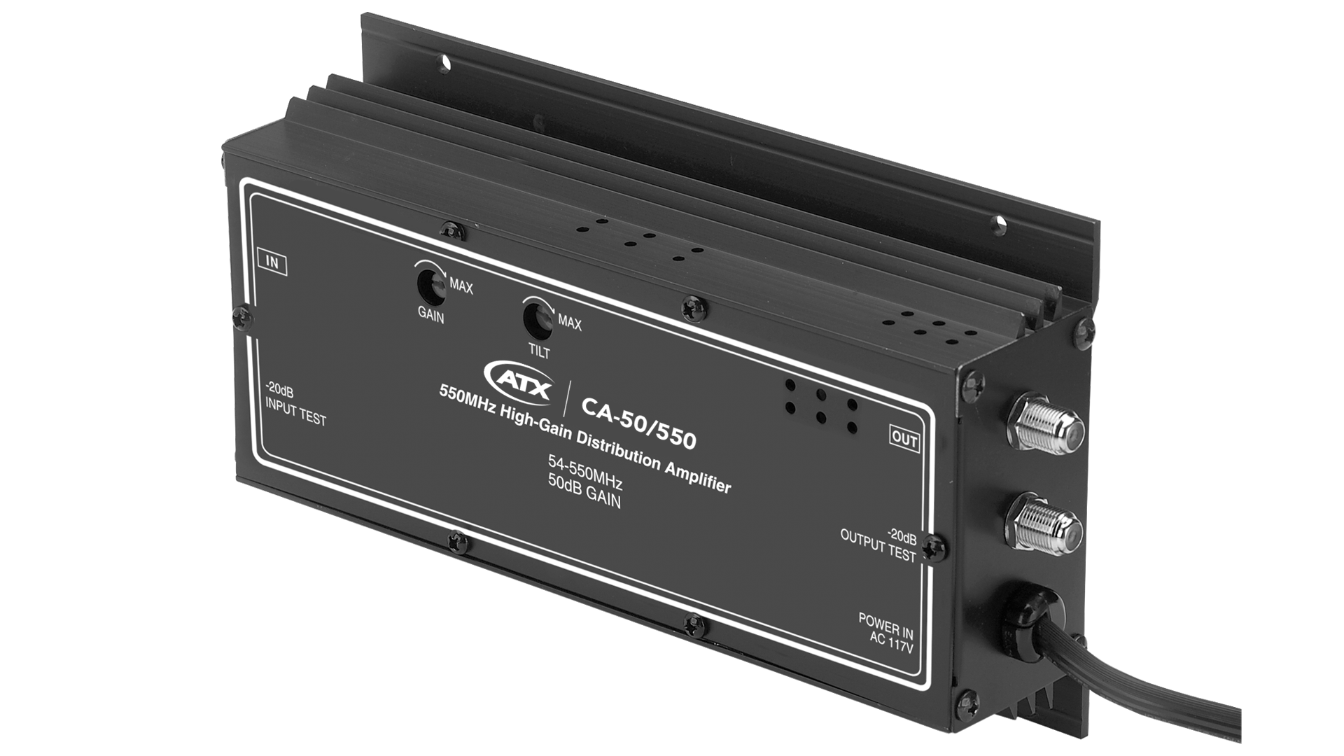 CA-50/550: 550MHz High-Gain Distribution Amplifier