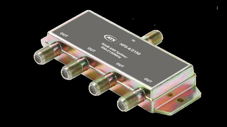 HFS-4/2150: 4-Port Splitter (1Port Power Passing)
