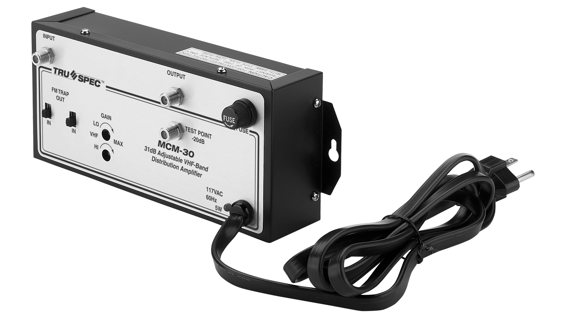 MCM-30: 30dB Adjustable VHF-Band Distribution Amplifier