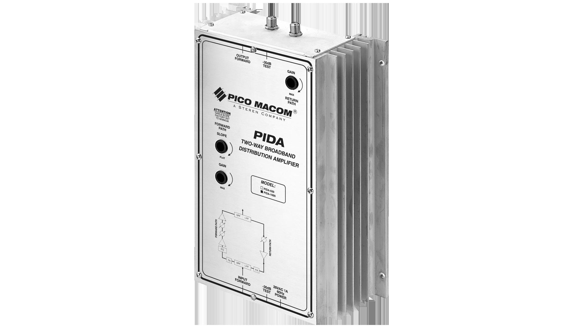 PIDA-1000: Broadband Bi-directional Push-Pull Distribution Amplifiers